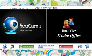 Screenshot of SSuite Dual View Portable LAN Video Phone Main Window