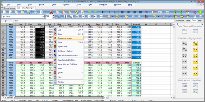 Screenshot of SSuite Office Accel Spreadsheet. This office suite contains all the necessary software applications to get anyone started immediately... from a hard working student, the casual home user, to even an office worker on a budget. Each application has a very easy to use menu structure and its listed features are limited to just 3-levels deep for quick access, unlike most new ribbon interfaces. Also included is a professional peer-to-peer video phone for LAN and internet communications.Updated for the latest Dekstop, Laptop, and Surface Pro tablets.