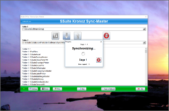 Screenshot of SSuite Office Kronoz Sync-Master. SSuite Kronoz Sync-Master is a very small and capable application to help you synchronize any folder or drive that you may have. It is possible to synchronize both selected folders or to synchronize in one direction only. Updated for the latest Desktop, Laptop, and Surface Pro tablets.