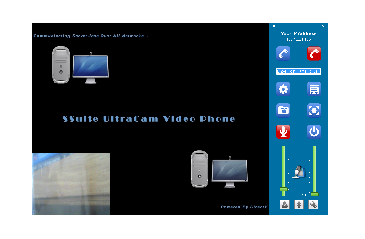 ultracam video phone ssuite office software a professional video phone running real time. Black Bedroom Furniture Sets. Home Design Ideas