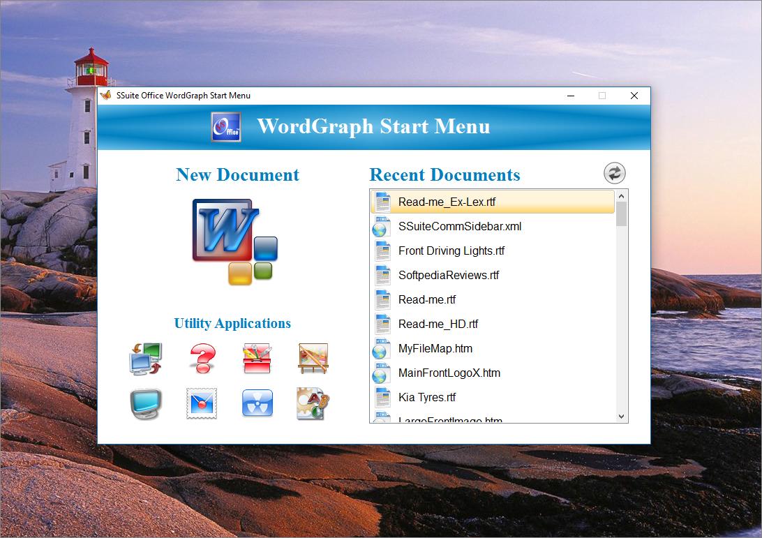 SSuite Office - WordGraph full screenshot